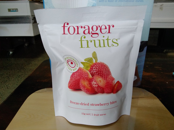 Forager Fruits freeze dried strawberries (15 - 20g)