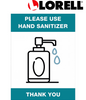 Lorell Please Use Hand Sanitizer Sign