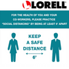 Lorell You/Co-Workers Please Keep 6' Apart Sign