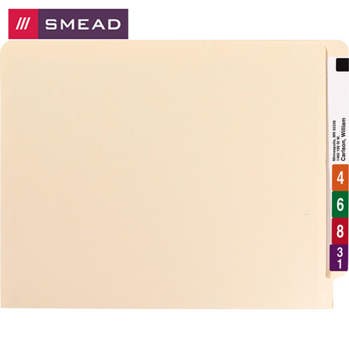 Smead End Tab Fastener Folders with Shelf-Master® Reinforced Tab