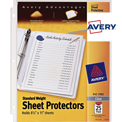 Avery® Standard Weight Sheet Protectors