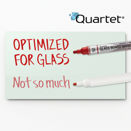 Quartet® Premium Glass Board Dry-Erase Markers, Bullet Tip, Assorted Colors, 4 Pack