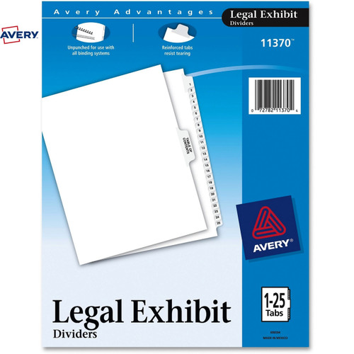 Avery® Premium Collated Legal Exhibit Divider Sets - Avery Style