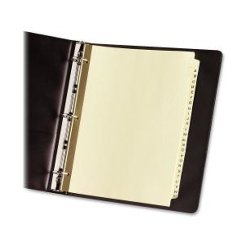 Avery® Laminated Pre-printed Tab Dividers - Gold Reinforced