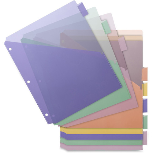 Business Source Double Pocket Index Dividers