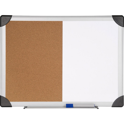 Lorell Dry Erase Aluminum Frame Cork Combo Boards