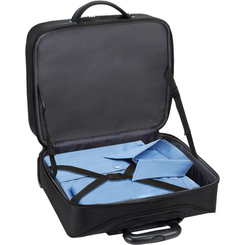 "Solo Tech Carrying Case (Roller) for 16"" Notebook - Black, Blue"