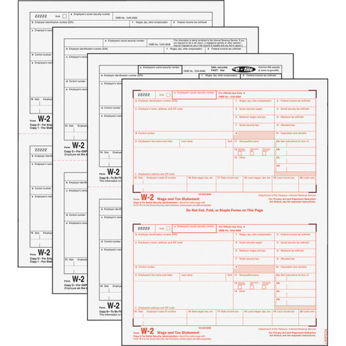 TOPS Laser W-2 Forms Kits