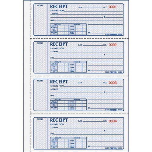 Rediform 3-pt Carbonless Money Receipt Book