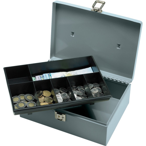 Sparco All-Steel Cash Box with Latch Lock