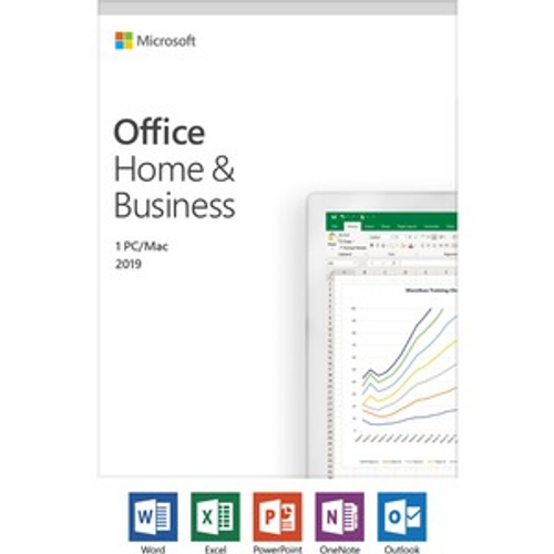 Microsoft Office 2019 Home & Business - Box Pack - NA/PR/TT Only Medialess - Medialess - English - PC, Intel-based Mac ENGLISH ONLY MEDIALESS