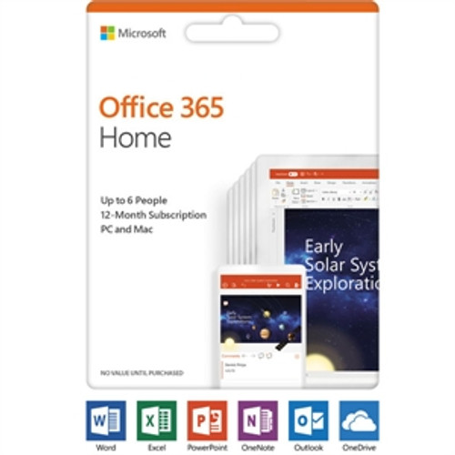 Microsoft Office 365 Home Subscription 6 PC/Mac, 6 User  1 Year