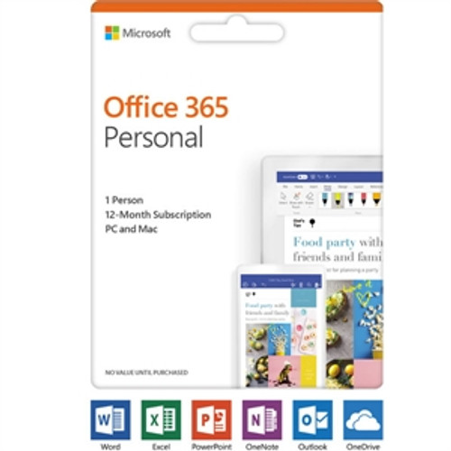 Microsoft Office 365 2019 Personal Subscription  1 User, 1 PC/Mac 1 Year