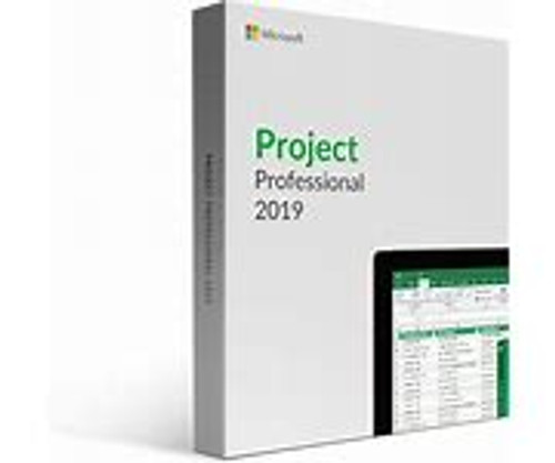 Microsoft Project 2019 Professional for Windows 10 Box Pack 1 PC Medialess Project Management/Version Control English PC MEDIALESS
