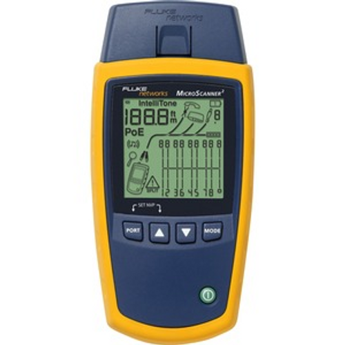 Fluke Networks MicroScanner2 Cable Verifier - RJ-45 10/100/1000Base-T Network VERIFIER