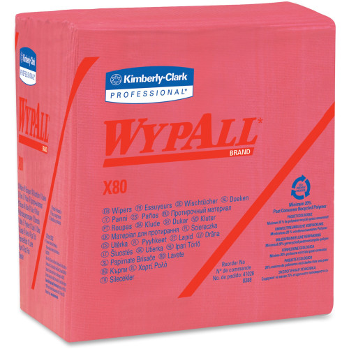 Wypall X80 Folded Red Wipers