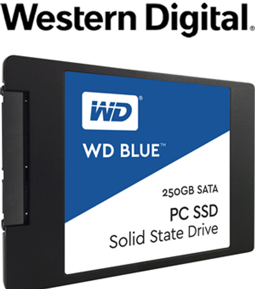 "WD Blue 3D NAND 250GB PC SSD - SATA III 6 Gb/s 2.5""/7mm Solid State Drive"