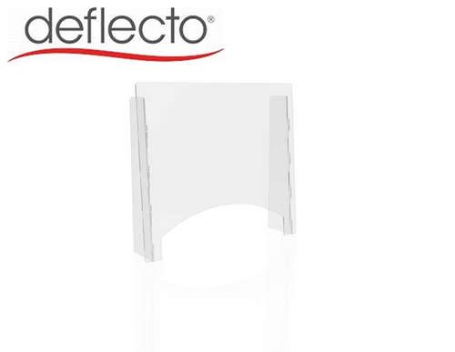 "Deflect-o Countertop Safety Barrier with Pass Through, 27""W x 24""H, 1/8"""