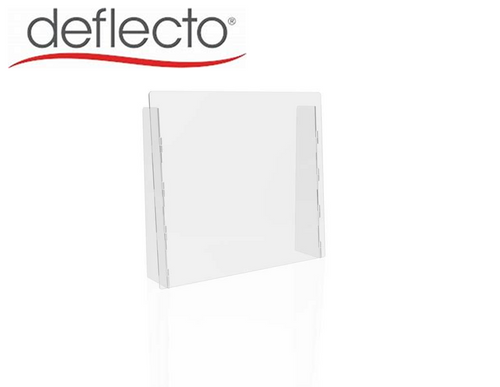 "Deflect-o Countertop Safety Barrier with Full Shield, 27""W x 24""H, 1/8"""