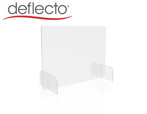 "Deflect-o Countertop Safety Barrier Full Shield with Feet, 31"" w x 23"" h, 3/16"""