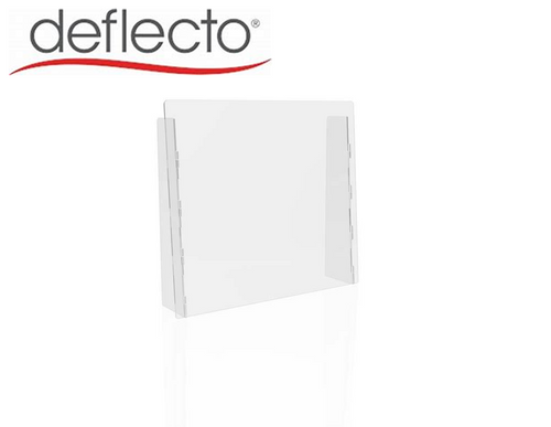 "Deflect-o Countertop Safety Barrier with Full Shield, 27""W x 24""H, 3/16"""