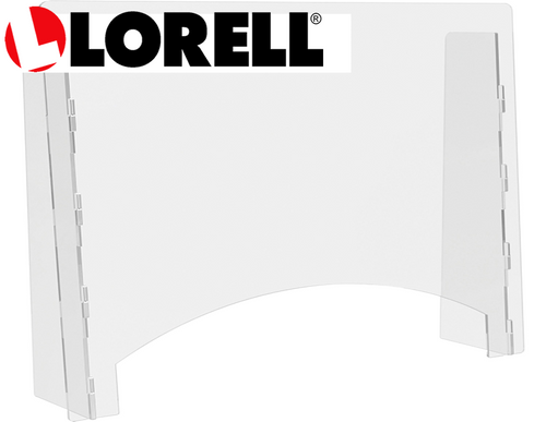 "Lorell Countertop Barrier - 27""W x 24""H x 6""D Pass-through window opening is 22""W x 5""H"