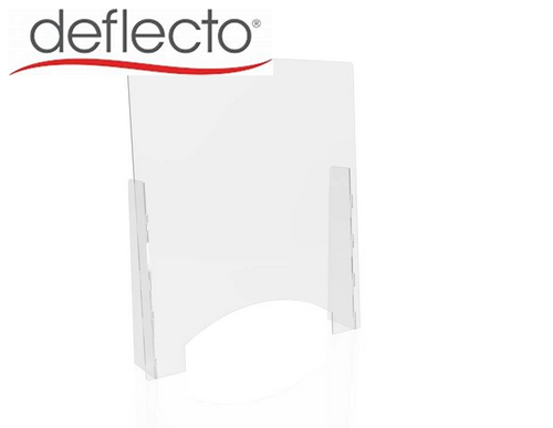 "Deflect-o Countertop Safety Barrier with Pass Through, 31.75""W x 36""H, 1/8"""