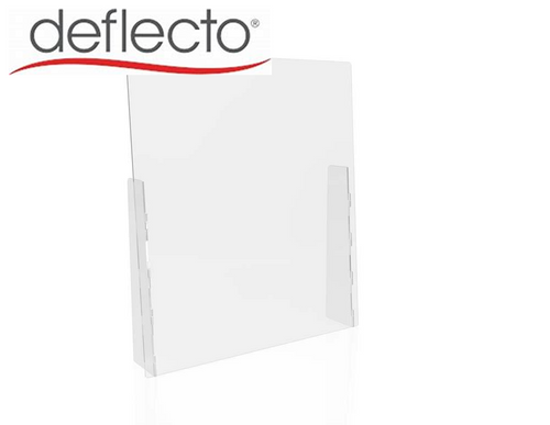 "Deflect-o Countertop Safety Barrier with Full Shield, 31.75""W x 36""H, 3/16"""