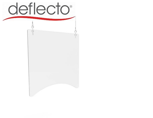 "Deflect-o Hanging Safety Barrier (Square), 24"" x 24"" PBCHPC2424"