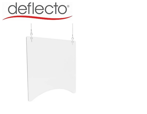 "Deflect-o Hanging Safety Barrier (Square), 24"" W x 24"" H, 3/16"""