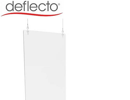 "Deflect-o Hanging Safety Barrier (Portrait), 24"" W x 36"" H, 3/16"""