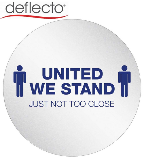 """StandSafe 20"""" Personal Spacing Disks – United We Stand PSDD20UWS/6 Personal Spacing Discs 20"""" diameter Circle w/ Adhesive United We Stand, 6 count, Vinyl"""