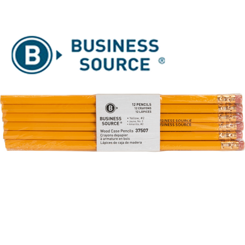Business Source Woodcase No. 2 Pencils