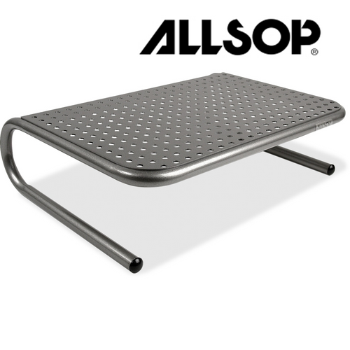 Allsop Metal Art Jr. Monitor Stand 14-Inch Wide Platform - Pearl Black