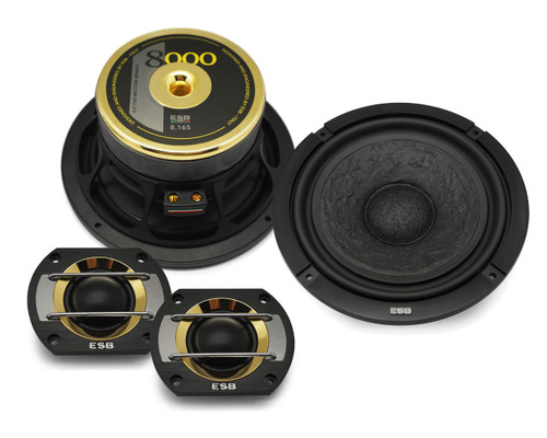 "ESB 8.6K2S - Two way 6.5"" Car Audio Component Speaker Set."