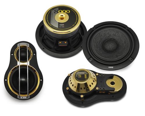 "ESB 8.6K3UMA - Three way 6.5"" Car Audio Component Speaker Set."