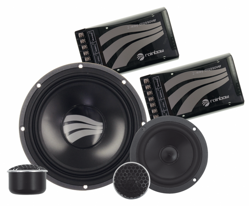"Rainbow Germanium GL-C6.3 - Three way 6.5"" Car Audio Component Speaker Set."