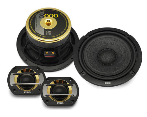 "ESB 8.6K2S - Two way 6.5"" Car Audio Component Speaker Set (Ex-Demo)."