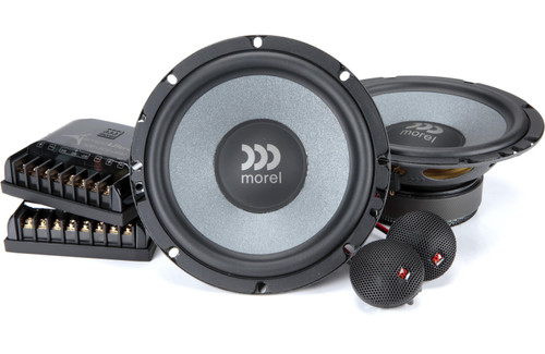 """Morel Tempo Ultra 602 - Two way 6.5"""" Car Audio Component Speaker Set."""