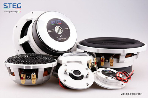 "Steg Masterstroke SS1 / SS3 / SS6 - Three way 6.5"" Car Audio Component Speaker Set."