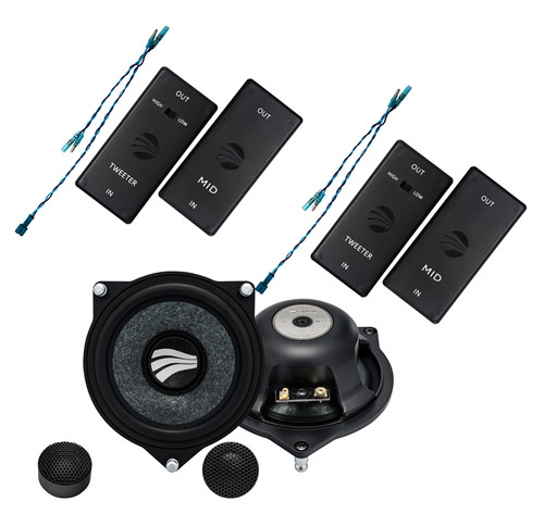 "Rainbow Intelligence IL-C4.2C MB - Two way 4"" Car Audio Component Speaker Set."