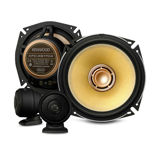 "Kenwood KFC-XS1704 - Two way 6.5"" Car Audio Component Speaker Set."