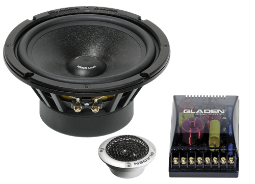 "Gladen Zero Pro 165.2DC - Two way 6.5"" Car Audio Component Speaker Set."
