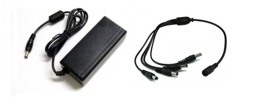 Power adapter for 4 cameras kit, 12V DC 5000mA