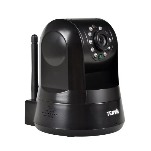TENVIS ROBOT P2P, MINI IP CAMERA WITH WIFI, IR UP TO 10 METERS, BLACK