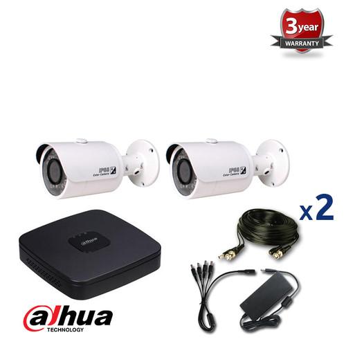 2 INDOOR/OUTDOOR DAHUA HD-CVI CAMERAS CCTV KIT, 720P, IR NIGHT VISION UP TO 30 METERS