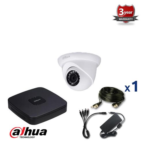 1 INDOOR/OUTDOOR DAHUA HD-CVI CAMERA CCTV KIT, 1080p, IR NIGHT VISION UP TO 30 METERS, HD-CVI1080p1