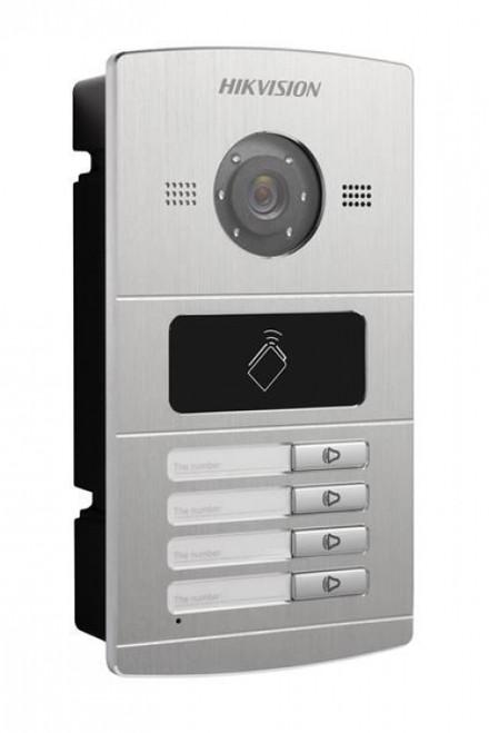IP VIDEO INTERCOM DOOR STATION CAMERA HIKVISION DS-KV8402-IM, FOUR ACCESS NUMBERS, 1.3 MEGAPIXEL, NIGHT VISION, ALARM, RFID