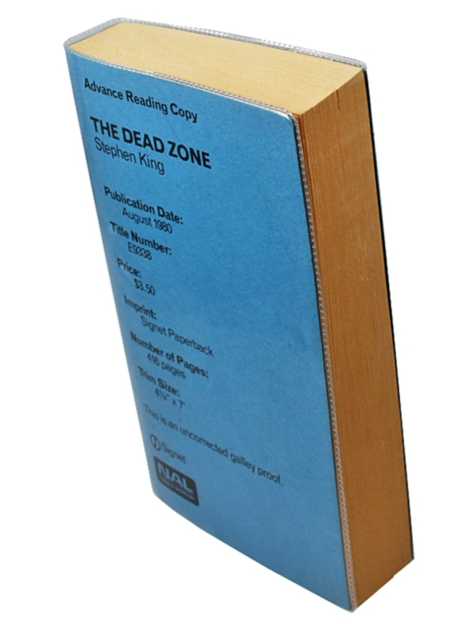 """Stephen King """"The Dead Zone"""" Uncorrected Galley Proof, Signed First Edition Slipcased"""