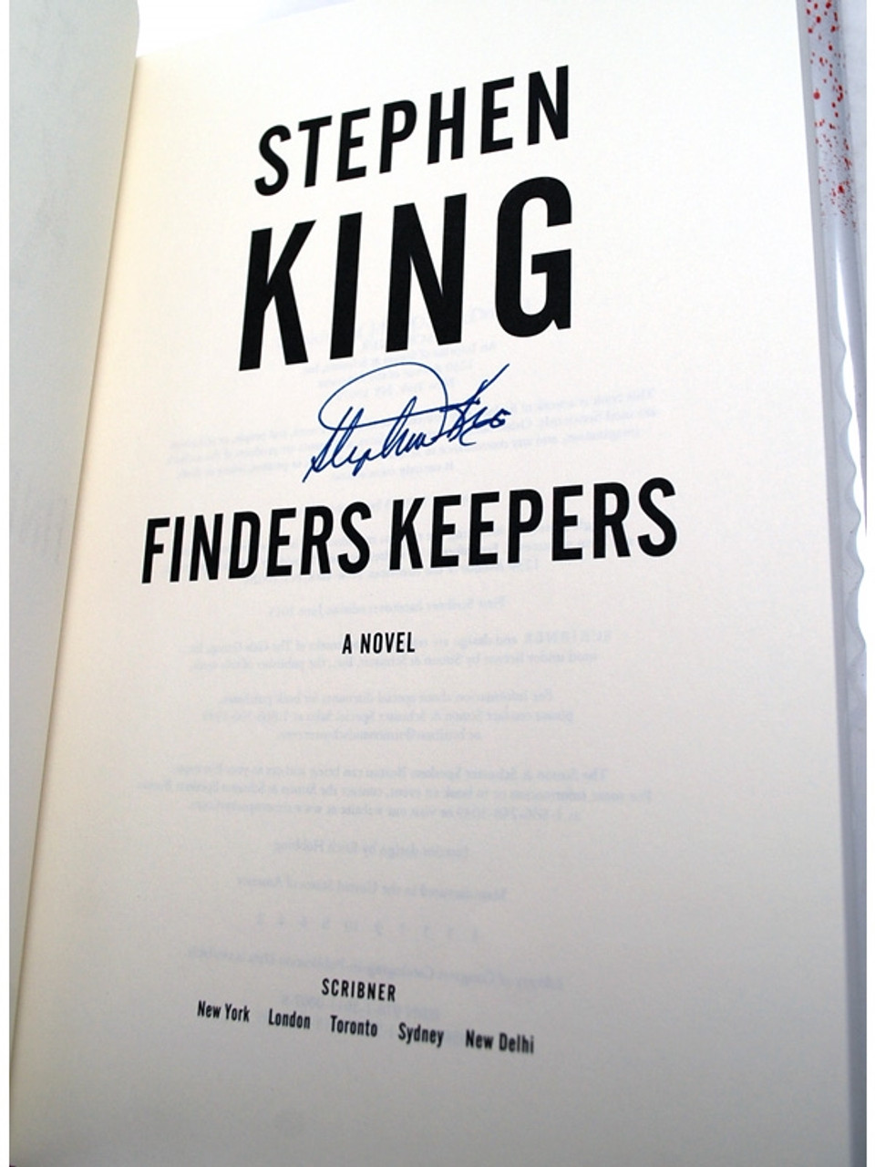 """Stephen King """"Finders Keepers"""" Signed First Edition 1st/1st w/Slipcase [Very Fine]"""